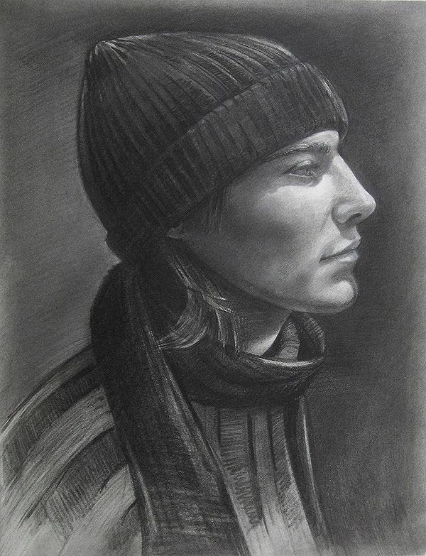 Hat by Scott Hutchison - Graphite Portrait Drawing