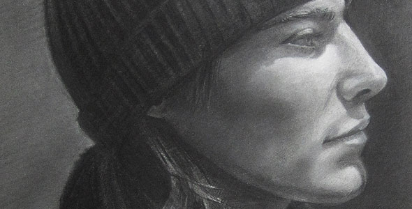 Hat by Scott Hutchison - Graphite Portrait Drawing - Thumbnail