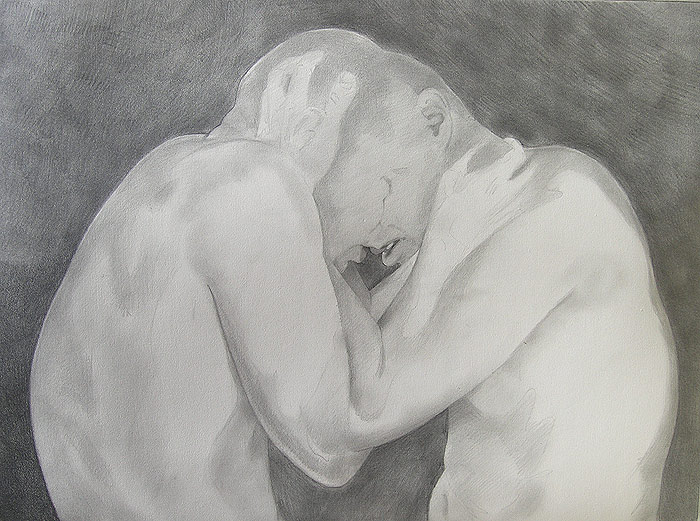 Hold - Graphite Drawing by Scott Hutchison First Layer