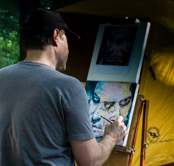 Scott Hutchison Camping and Painting
