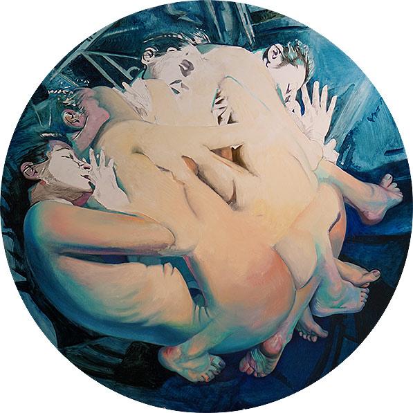 """Scott Hutchison - Dreamtank - Oil on Aluminum 44"""" x 44"""" - Layer 2"""