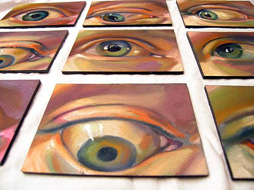 Scott Hutchison - Googlie - Oil Painted Animation Of Eyes