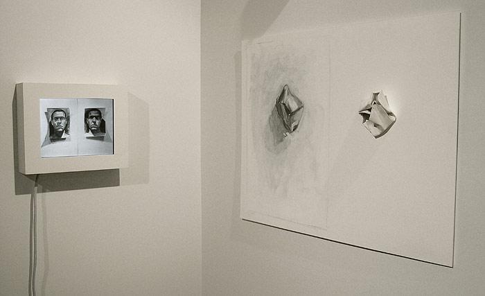 Scott Hutchison - Paper Portrait - Charcoal Drawn Animation - Installation View