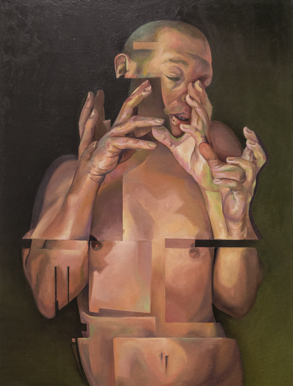 Counterpoint oil on linen by Scott Hutchison - Many hands Final