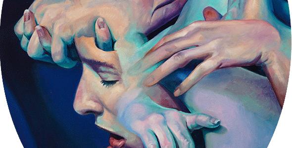 """Scott Hutchison Medusa, 18"""" x 24"""" oil on Aluminum - Thumb"""