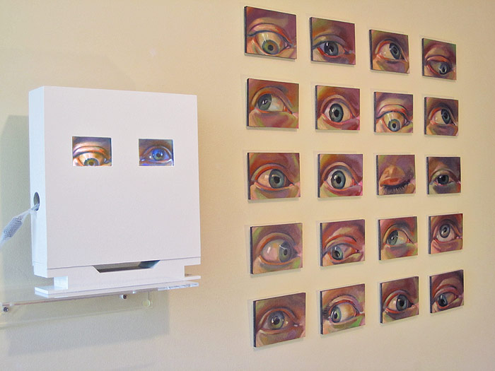 Scott Hutchison - Googlie - Oil Painted Animation Of Eyes - Installation View