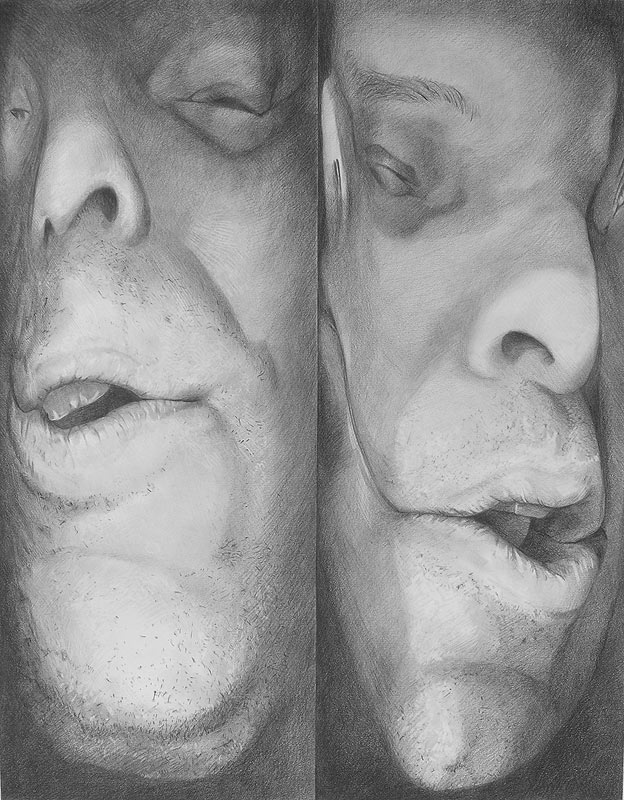 Scott Hutchison - Squeezed - Portrait Drawing of Scanned Face