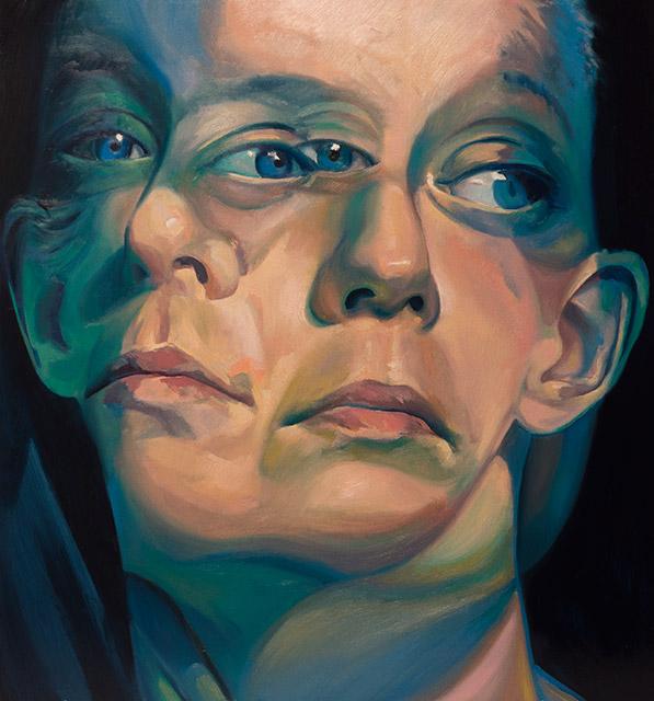 Colorful Double Portrait by Scott Hutchison