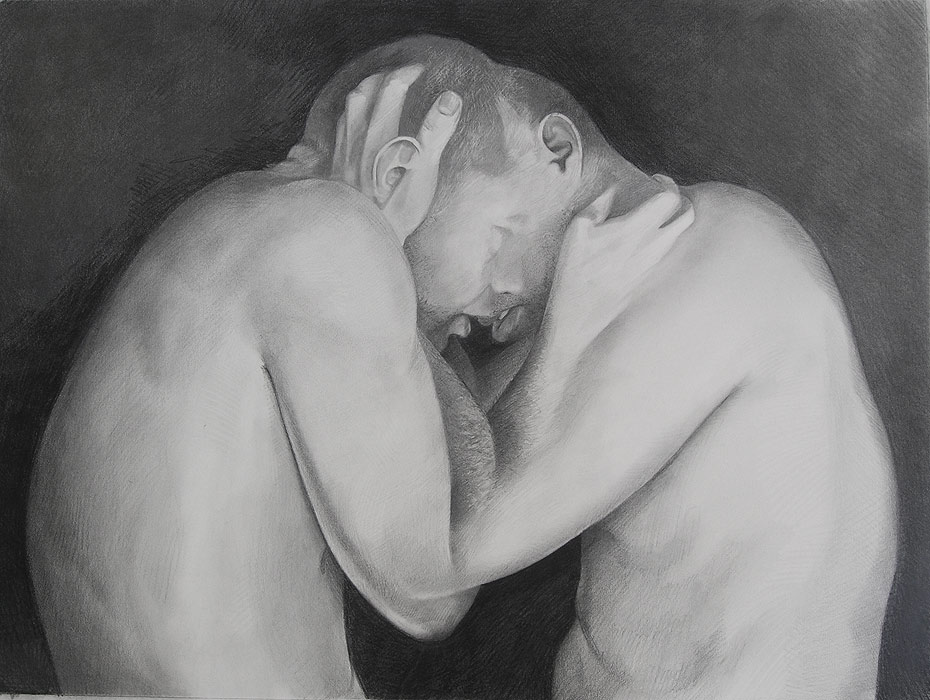 Hold - Graphite Drawing by Scott Hutchison Last