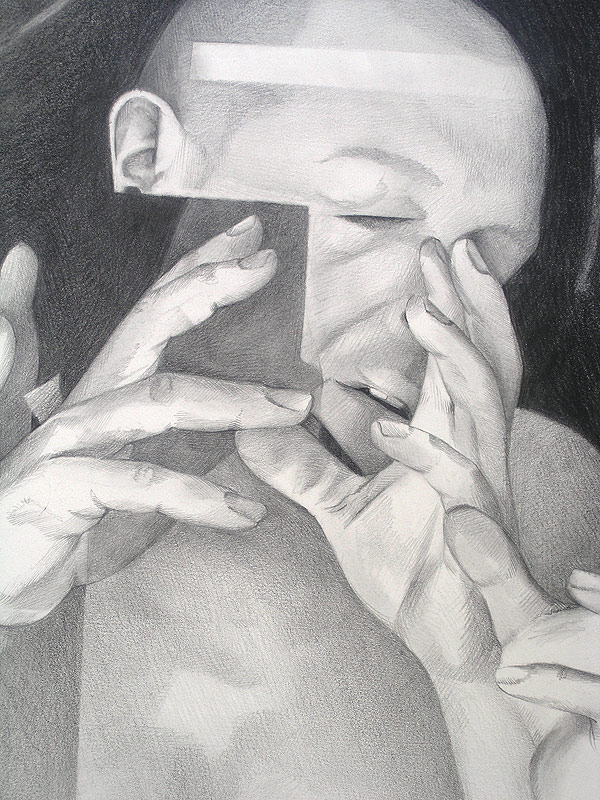 Scott Hutchison - Counterpoint - Detail of Face in graphite
