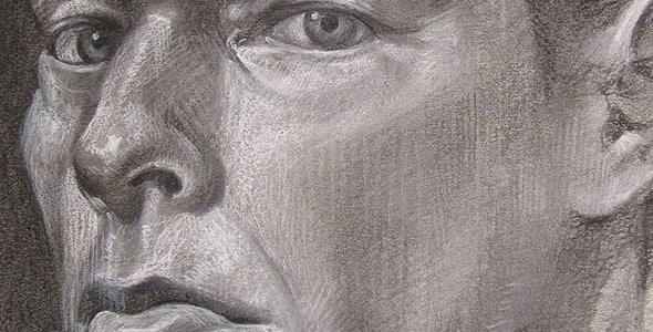 Self Portrait Two - Charcoal and conte portrait commissions by Scott Hutchison - Thumbnail