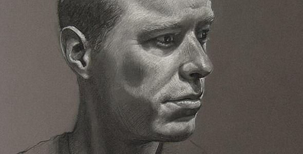 Scott - White Conte and Carbon Portrait by Scott Hutchison - Thumbnail