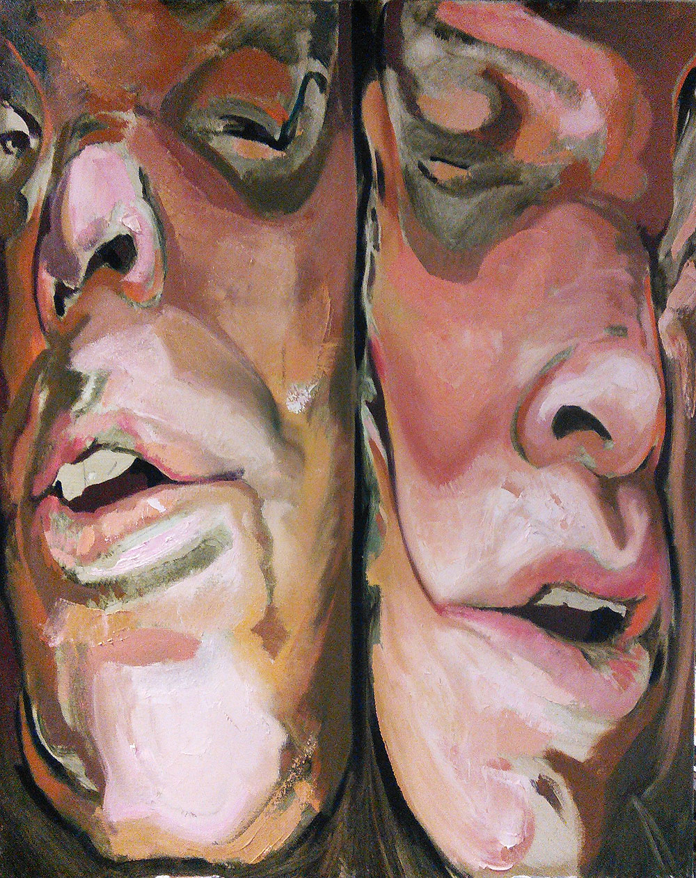 Squeezed - Double portrait - oil on canvas by Scott Hutchison - Layer One