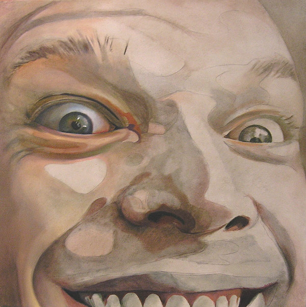 Crazed Underpainting- Oil on Wood by Scott Hutchison