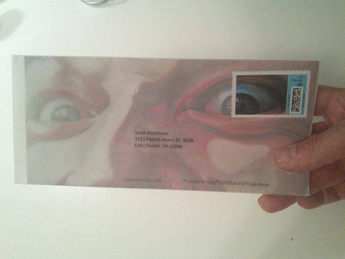 Envelope of Crazed used in Art League Fundraiser