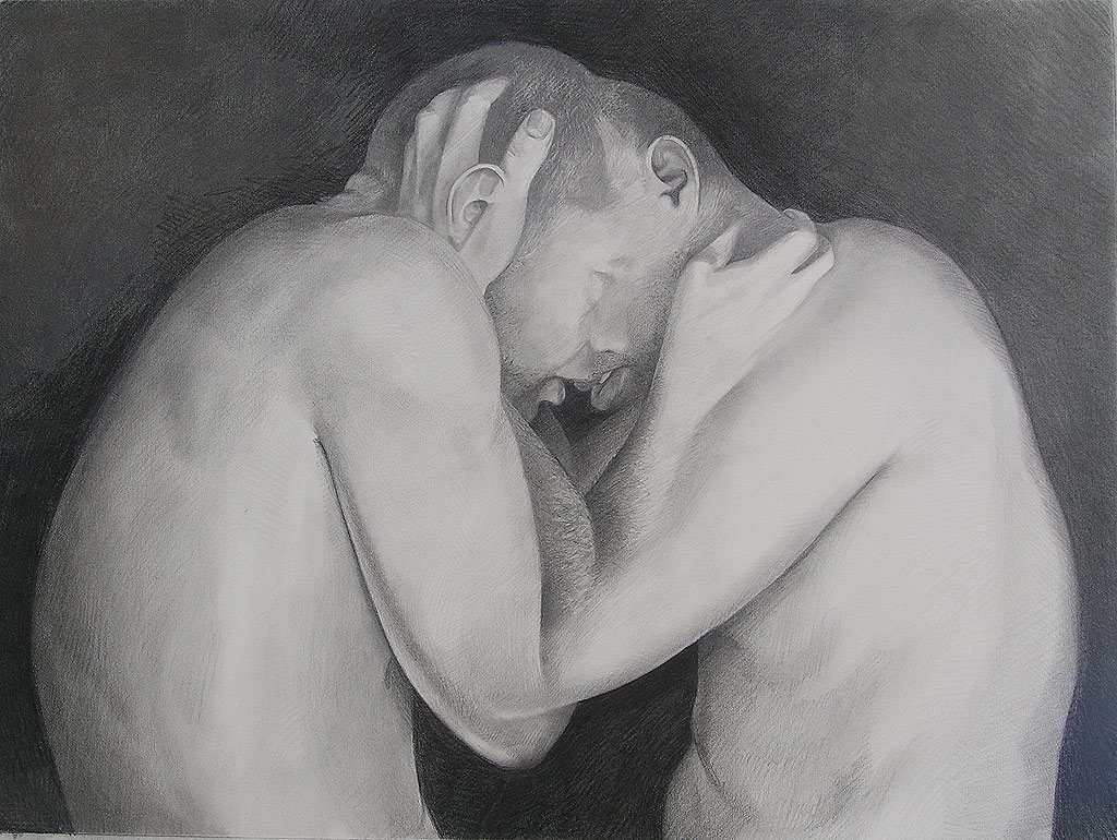 Scott Hutchison's Drawing called Hold - He hates this piece.