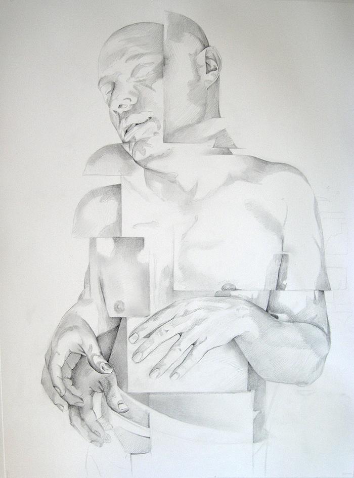 Scott Hutchison - Shift- Graphite Figure Drawing - Sketch
