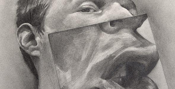 Silent One - Graphite Portrait by Scott Hutchison - Thumbnail