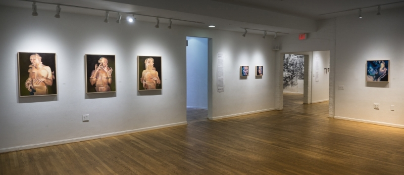 """Displaced"" Triptych at The Hillyer Arts Space by Scott Hutchison"