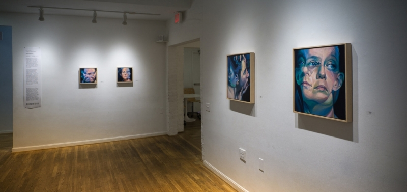 Corner Shot of The Hillyer Arts Space during Scott Hutchison's Solo Show