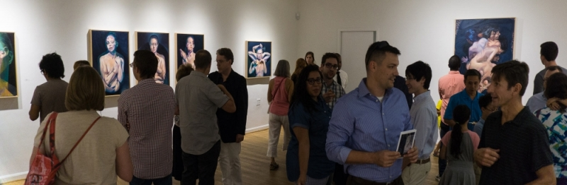 Crowd Shot during opening night at The Hillyer Art Space